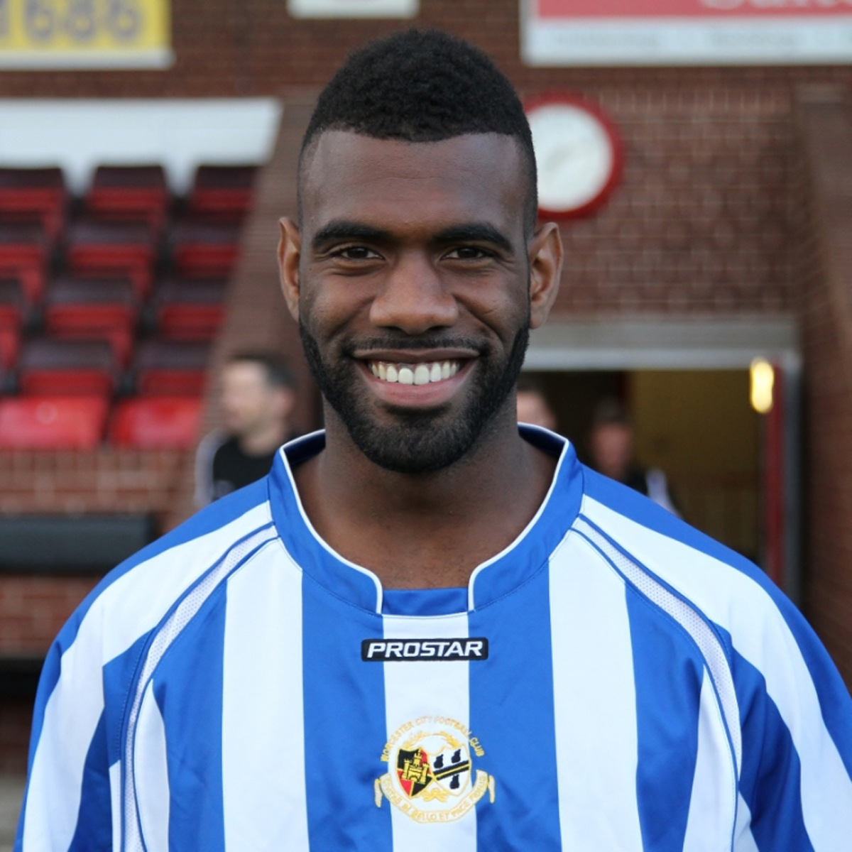 DOUBLE TROUBLE: Daniel Nti fired both goals as Worcester City grabbed a 2-1 win at Histon in Skrill North.