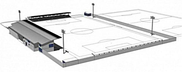 FUTURE HOME? This is an image of how the £2million community stadium would look at Perdiswell