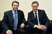 Nigel Huddleston with Prime Minister David Cameron