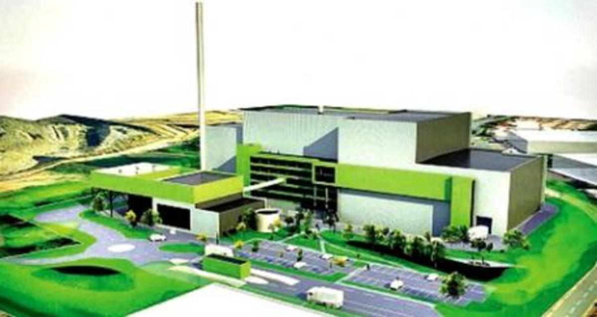 An artist's impression of the Hartlebury incinerator