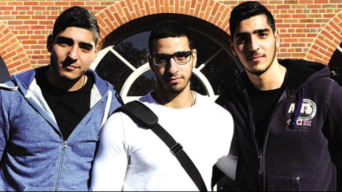 CHASING THEIR DREAMS: Charalampis, Giorgos and Chrysovalantis Papaioannou are at the University of Worcester.