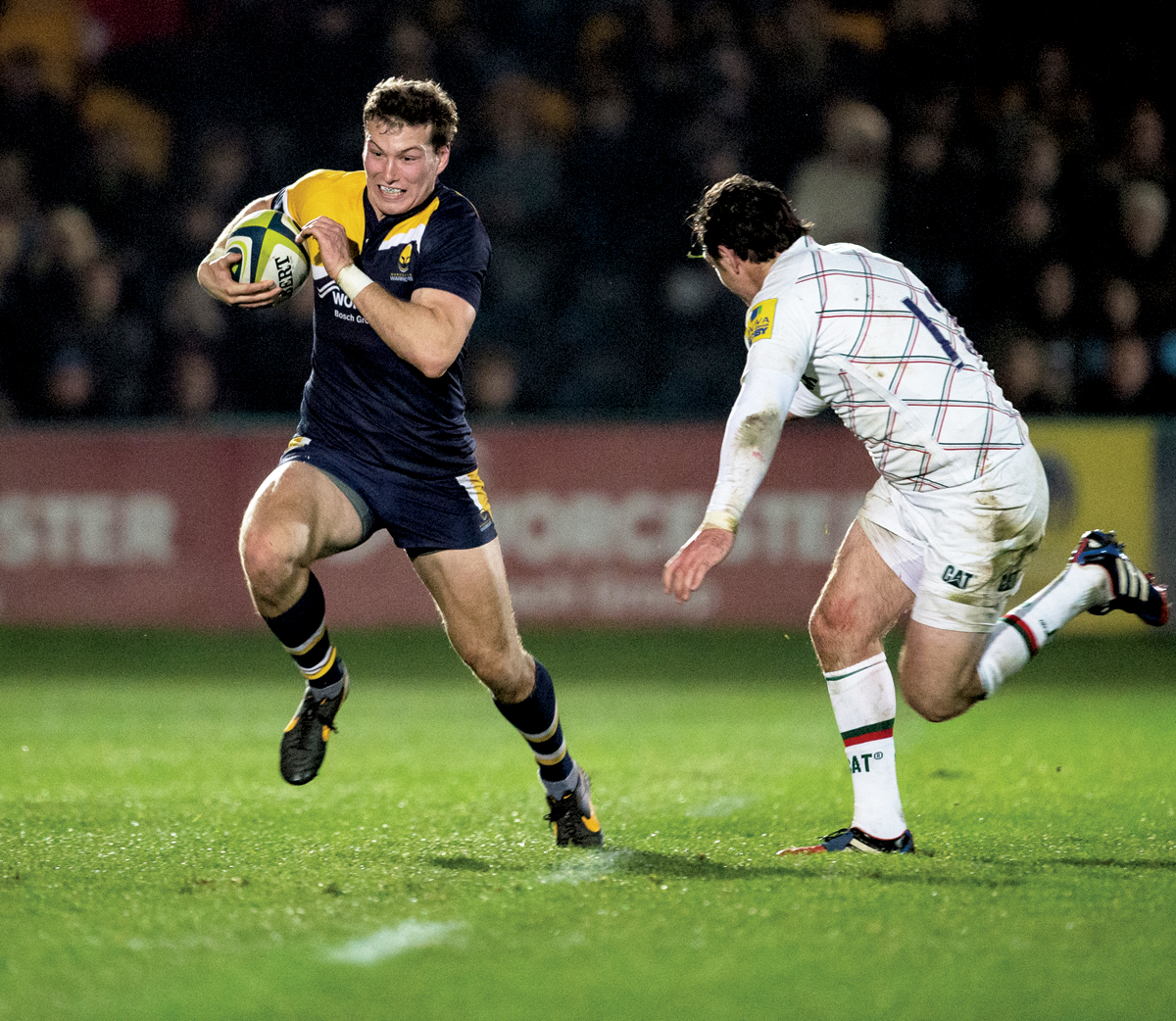 MAX STELLING: Has a big part to play in the future of Worcester Warriors and has signed a senior contract at Sixways.