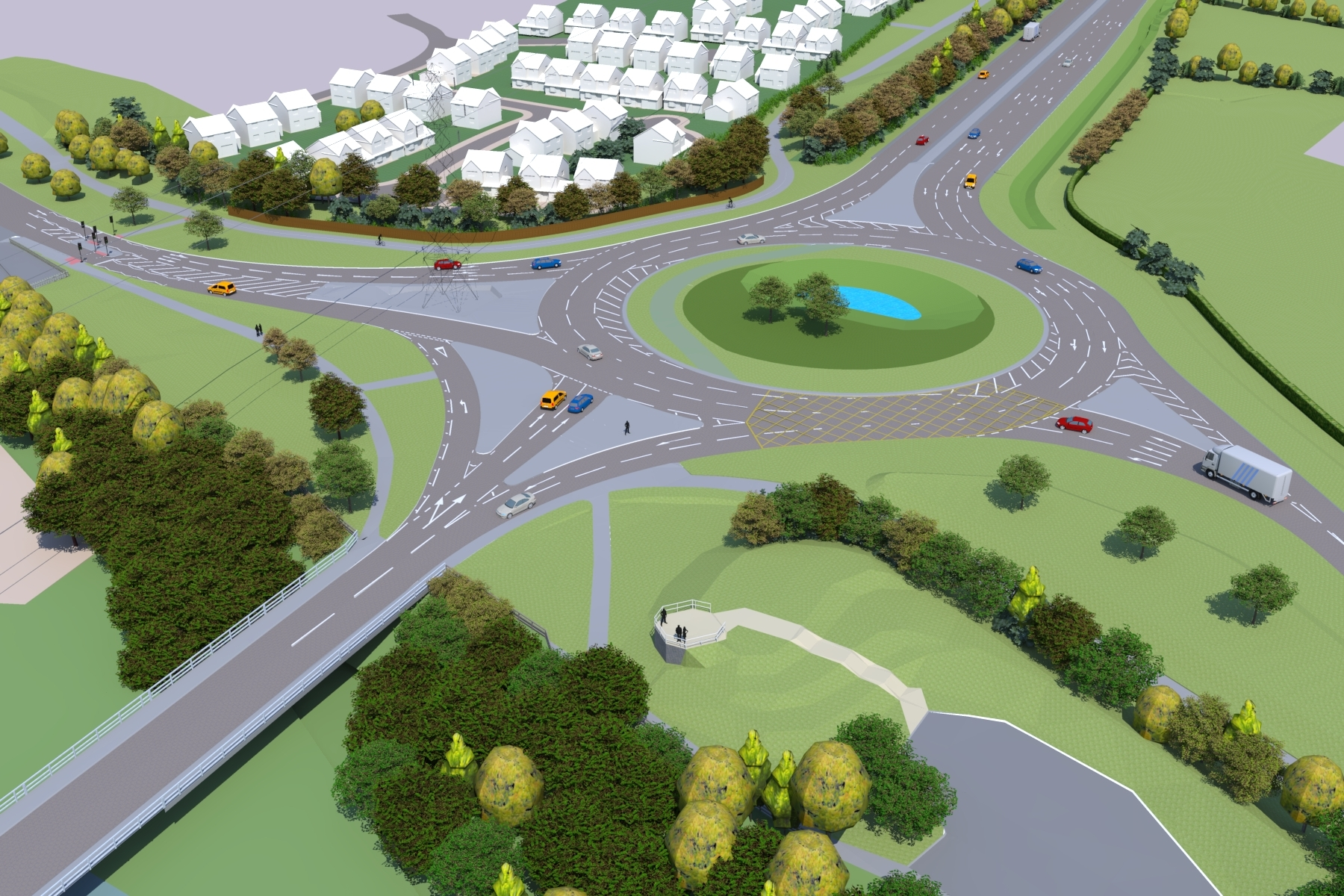 An artists impression of the new Ketch roundabout