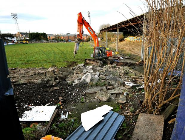 Demolition work has started at St George's Lane, the former home of Worcester City FC