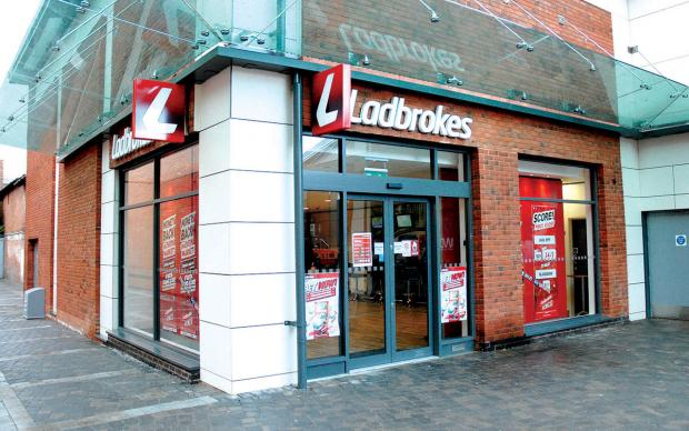 The Ladbrokes, in St Martin's Quarter, Worcester, was raided on Tuesday
