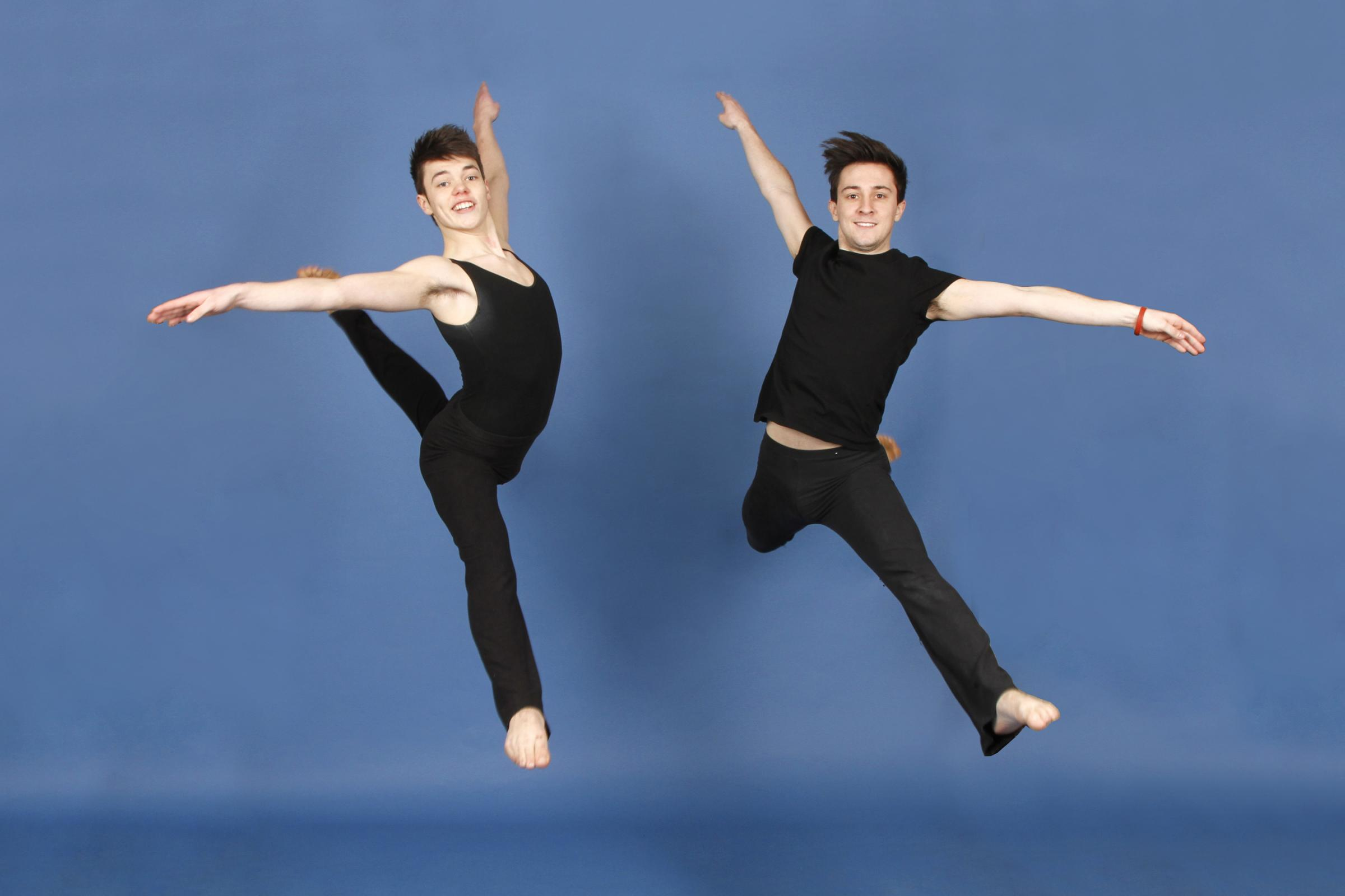 Joel Cooper who won the highest mark for Lyrical and modern section 2013 and Sam Wall who won Senior Championship section 2013