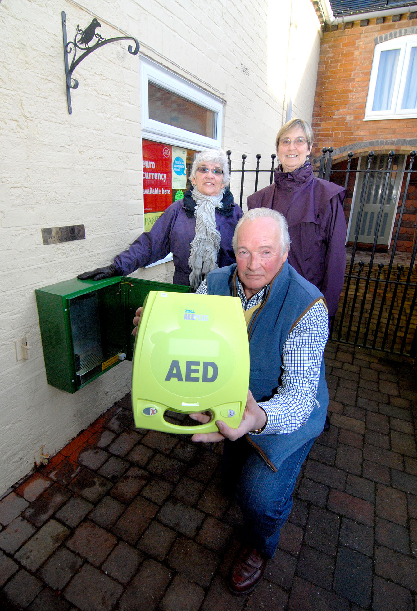 Village gets defibrillator