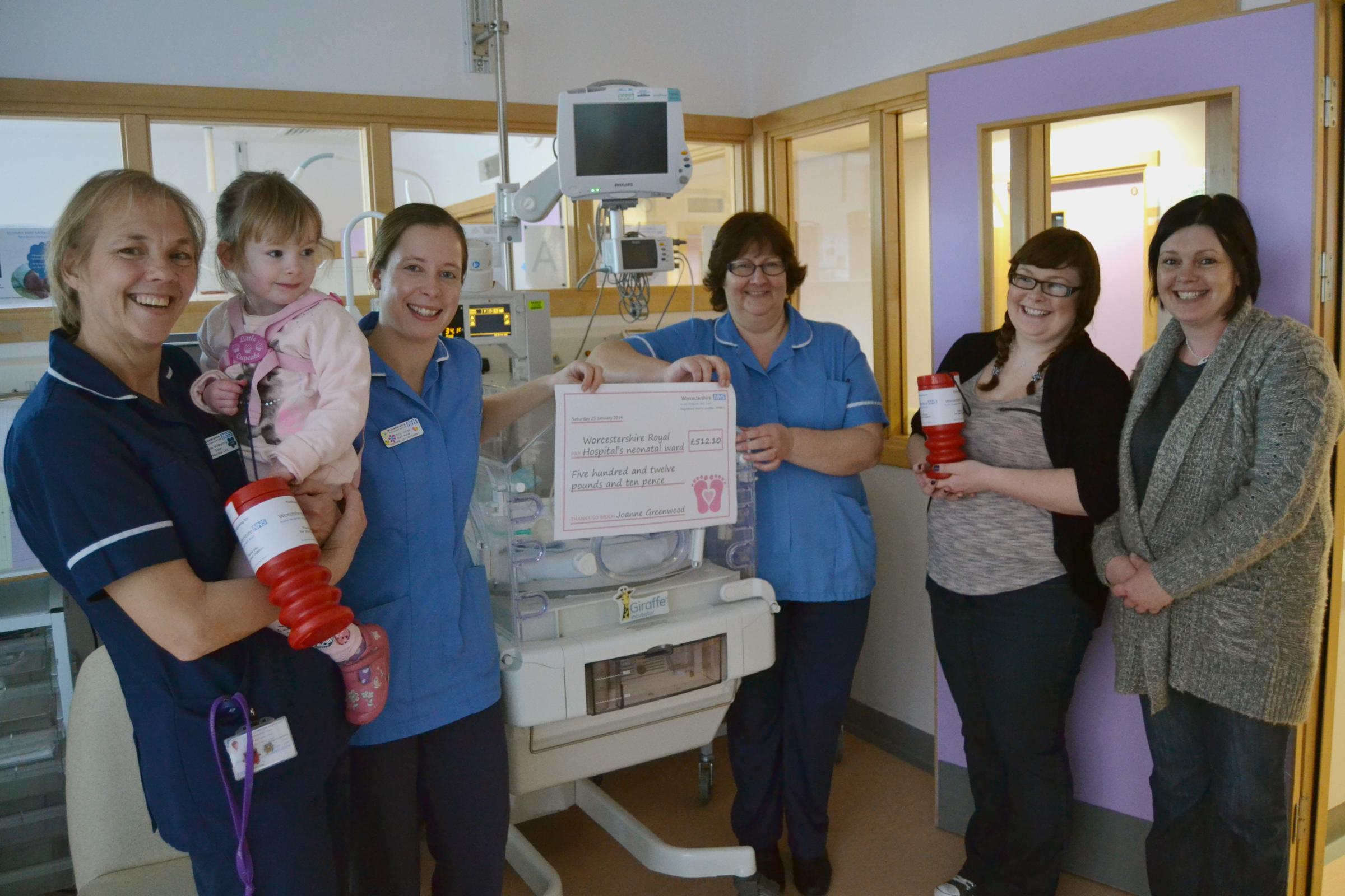 (from left) Ward Sister Julie McMannis, Paige Harvey, Staff Nurses Emily Jones an
