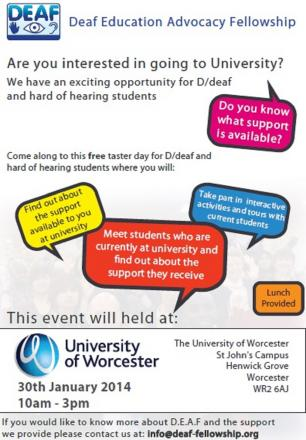 Event aimed at getting deaf students into university