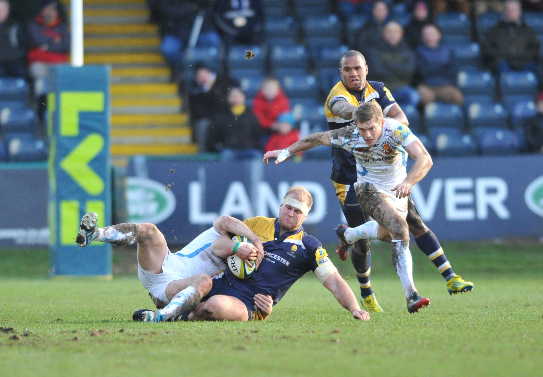 George Porter in action for Worcester Warriors.