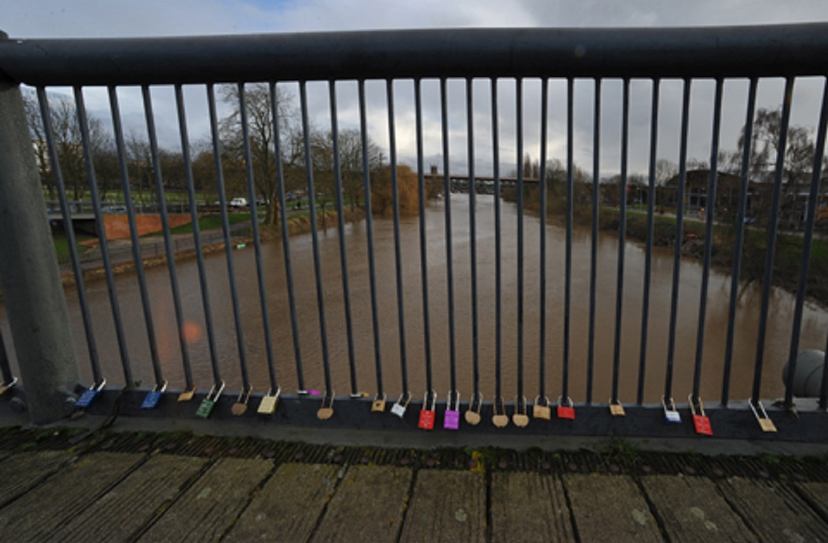 Love is all around: Love locks continue to be added to Sabrina Bridge