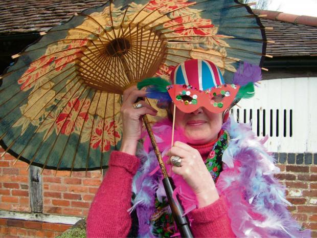 Museum roleplayer Lynn Parsons getting in the spirit of 'Celebrations Week'