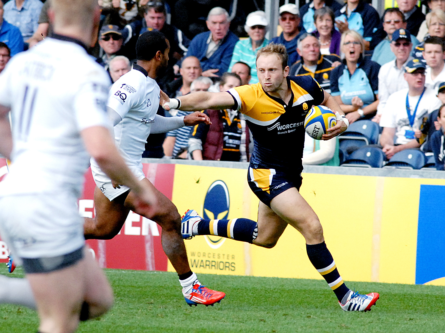Paul Jackson 06.10.13 Worcester  Aviva Premiership Worcester Warriors vs Newcastle Falcons. Chris Pennell. (3831020)