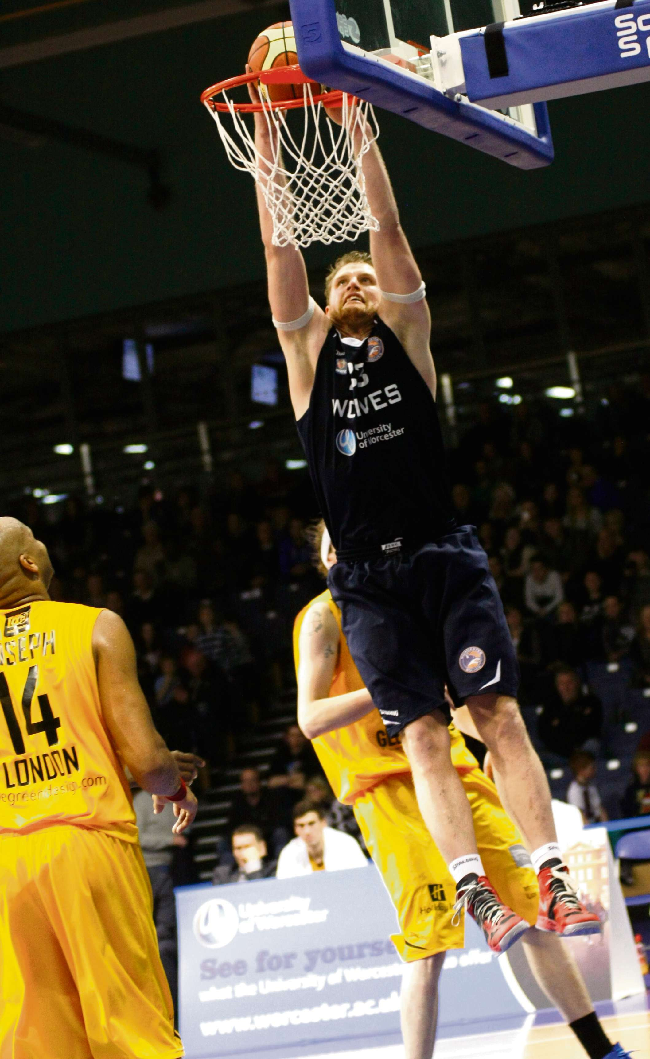 ANDREAS SCHREIBER: The Worcester Wolves centre will be facing his former club Plymouth Raiders on Saturday.