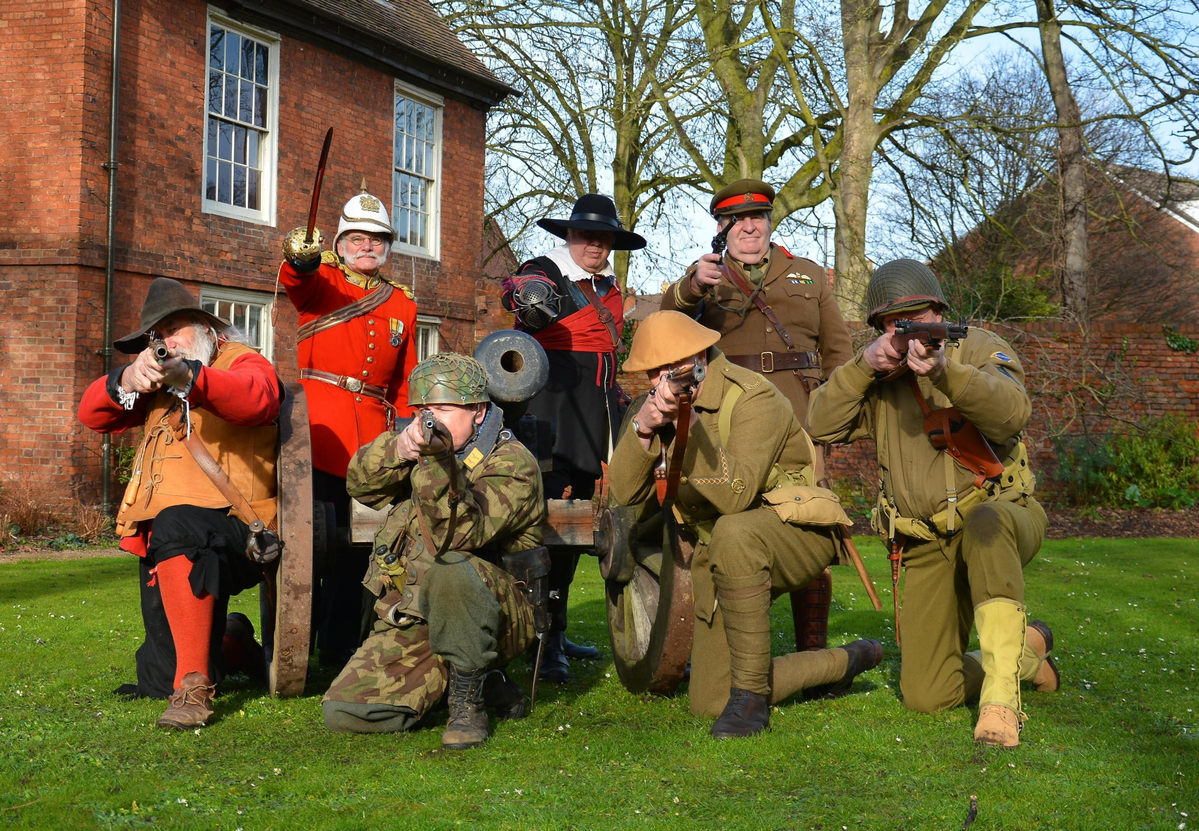 The Worcester Re-enactors will be in CrownGate this weekend entertaining shoppers.