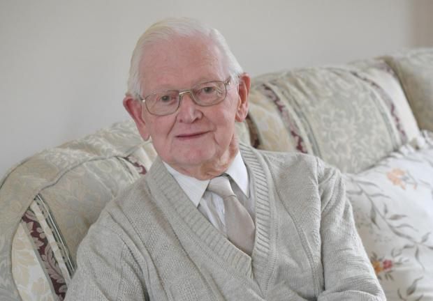 John Anyon        20/1/14  Worcester resident Lorimer ''Meredith'' Dobson who will cellebrate his one hundredth birthday on Feb 8th (3528213)
