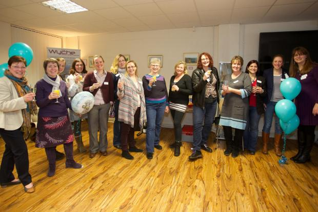 Malvern Mumpreneurs celebrate the group's first birthday. Picture by White Cube Photography.