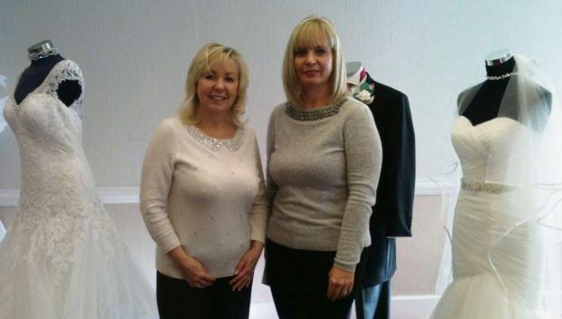 Glenda Aston and Suzanne Bacon-Lewis, Bridal Boutique of Worcester.