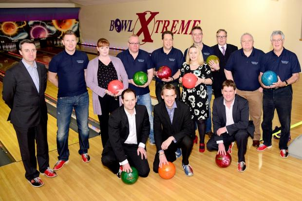 Worcester News: Bowlers at the fundraising event at Bowl Xtreme in Droitwich Road