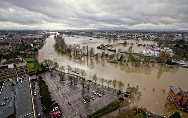 The floods which struck Worcestershire back in February
