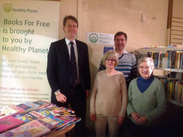 Worcester News: Robin Walker meets volunteers from the Free Book shop in Worcester