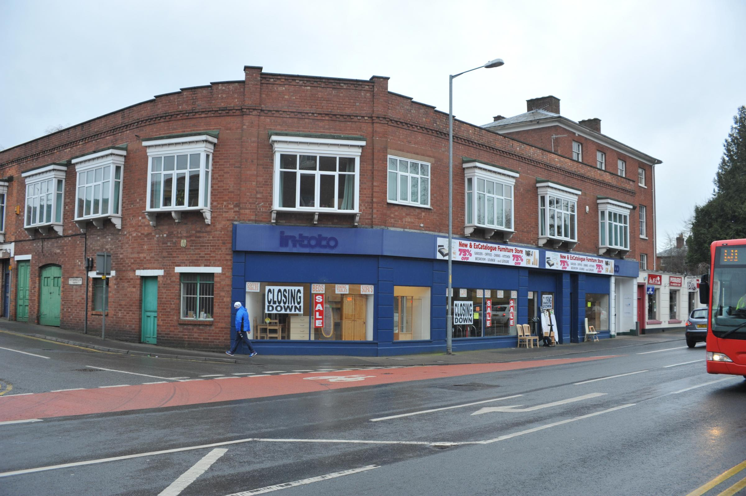 The building in Barbourne Road to be turned into a Sainsbury's Local