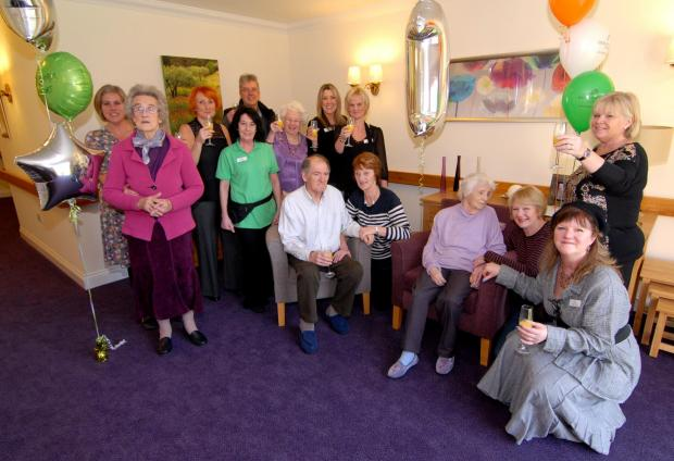 20/02/14. Latimer Court care home in Ronkswood has been open for a year. Staff, residents and relatives celebrate. Picture by Nick Toogood. (4160876)