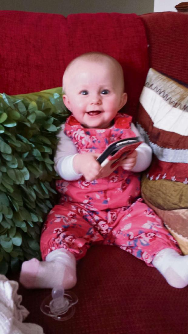 Worcester News: Eight-month-old Nancy Evans suffers from the rare genetic liver disease known as Alpha-1 Antitrypsin Deficiency