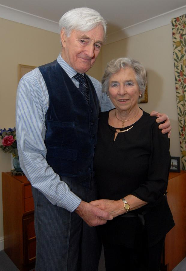 Worcester News: 1014535501. 04/03/14. John and Jean Mobbs of West Malvern will celebrate their Diamond wedding anniversary (60 years) on March 20th. Picture by Nick Toogood. (4395090)