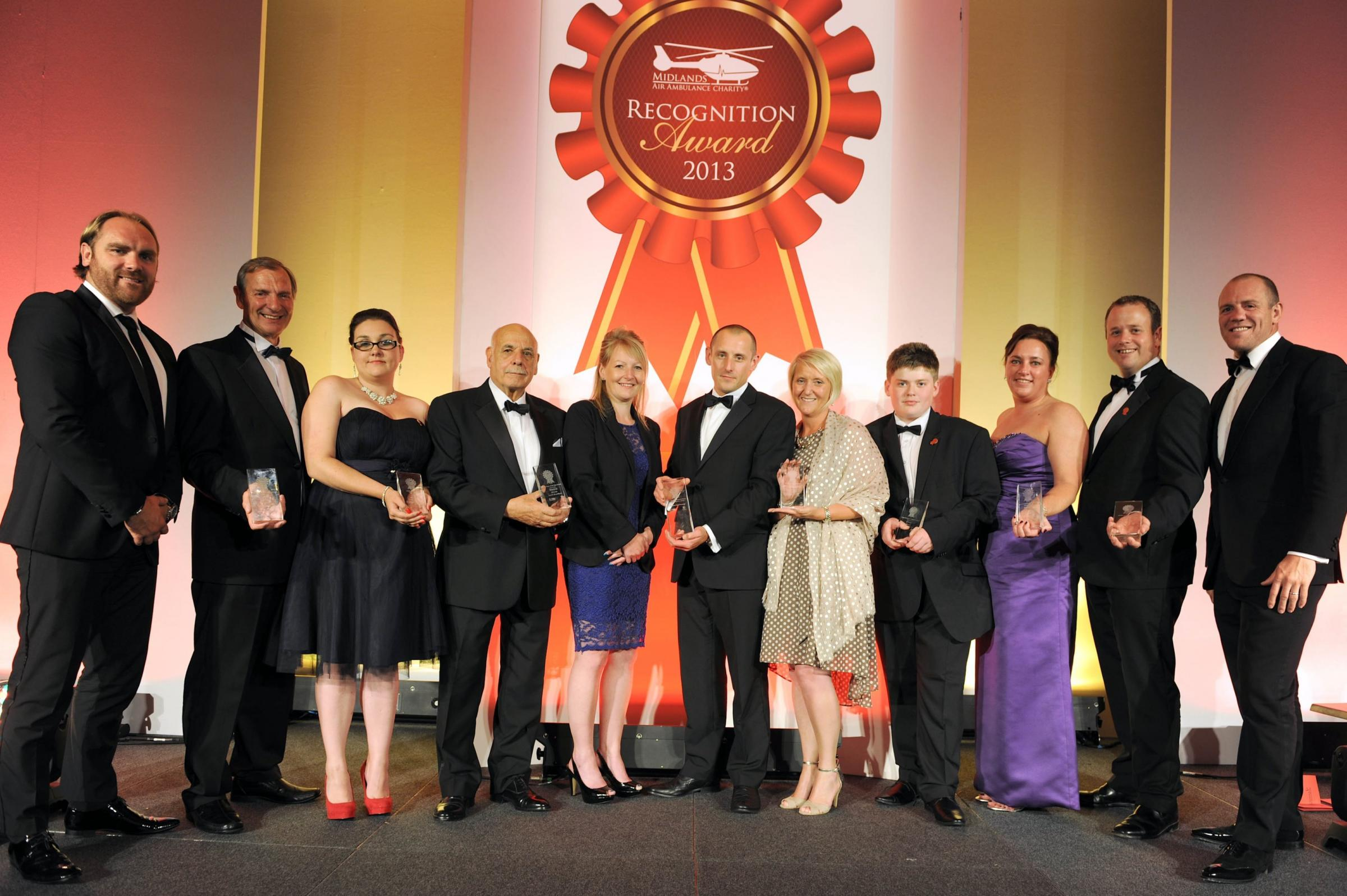 The winners of Midlands Air Ambulance Awards from 2013