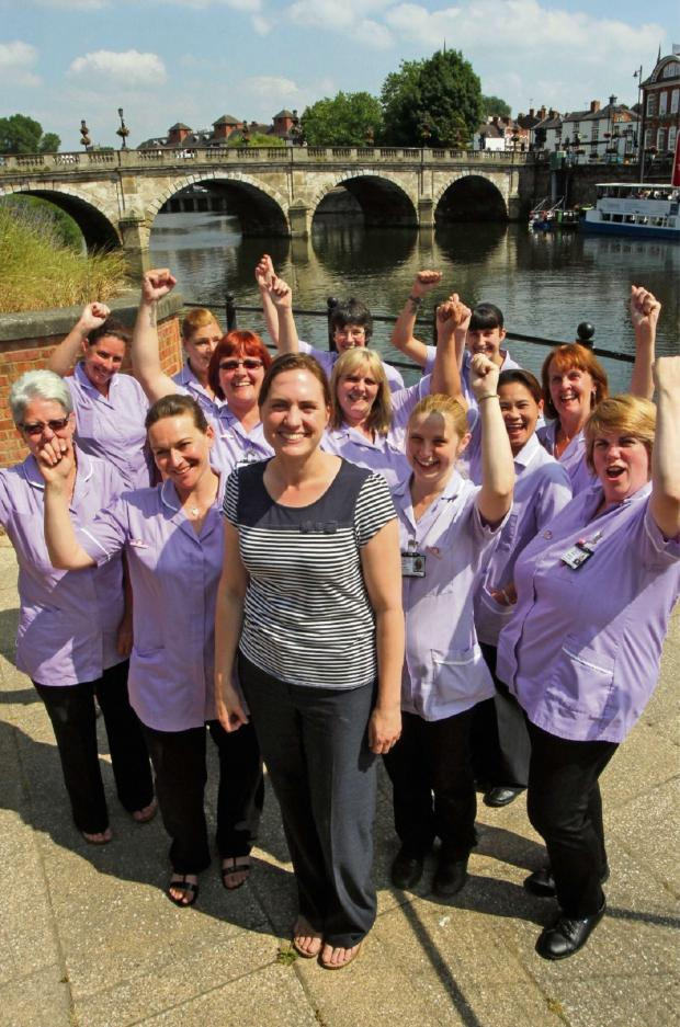 Worcester News: Dr Hannah MacKechnie with Radfield Home Care carers