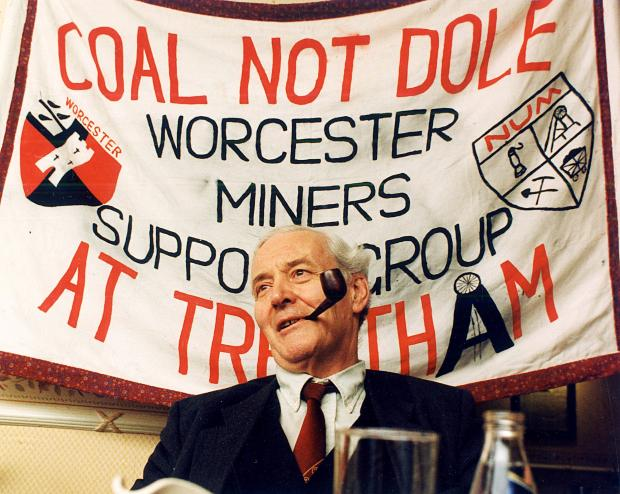 Worcester News: Tony Benn: pictured on a visit to Worcester in 1993