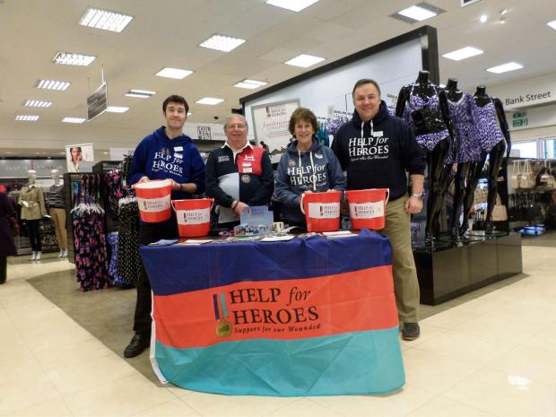 Debenhams Worcester. From Left to Right: Eden Tyrrell, Eric Stewart, Margaret Sturdy and Tony Hacon.