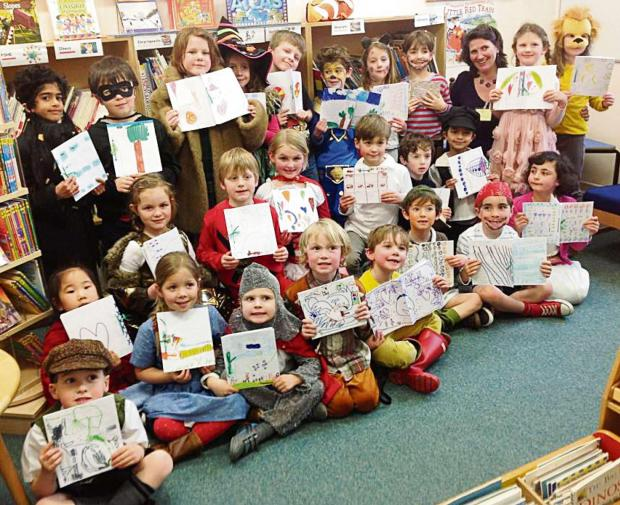 Children from The Downs Malvern created their own books