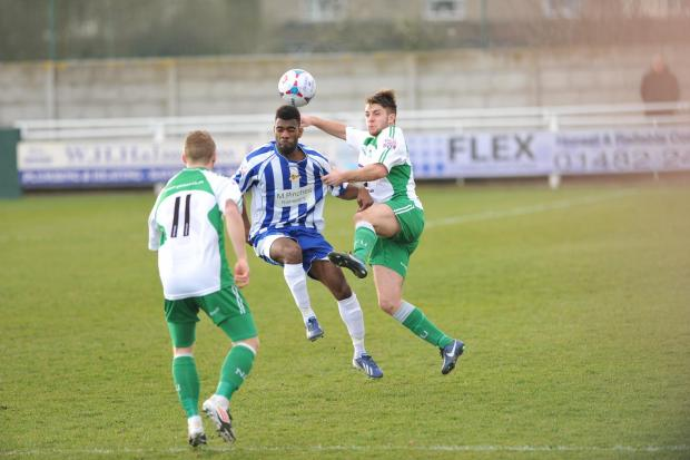 Daniel Nti scored City's goal at North Ferriby.