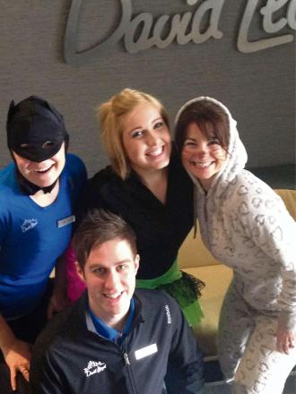 Members of the David Lloyd Worcester team gearing up for Super Saturday