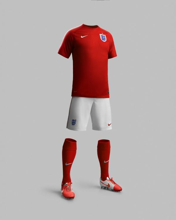 Worcester News: Nike England away red kit for the World Cup