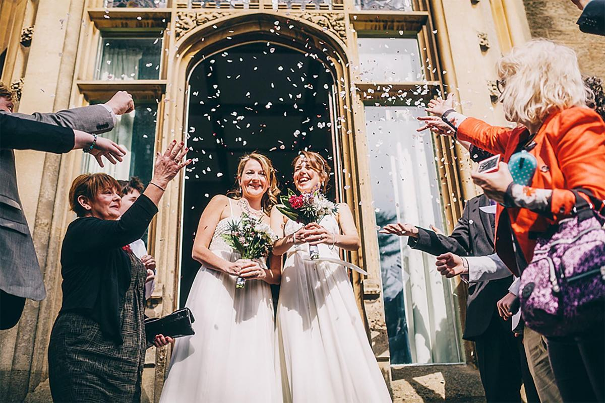 A Surreal And Magical Moment Brides Tie The Knot In County S