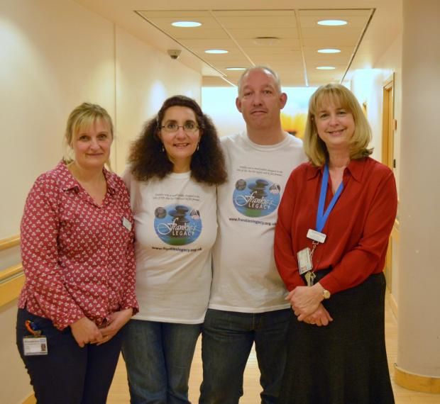 Launch: Trudy Berlet, bereavement specialist midwife at Worcestershire Acute Hospitals NHS Trust, Frankie's Legacy founders Lisa and Russell Ventura and Patti Paine, divisional director of nursing and midwifery at Worcestershire Acute Hospitals NHS Tr