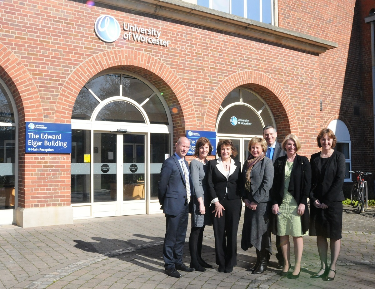 (L-R) The University of Worcester's head of nursin