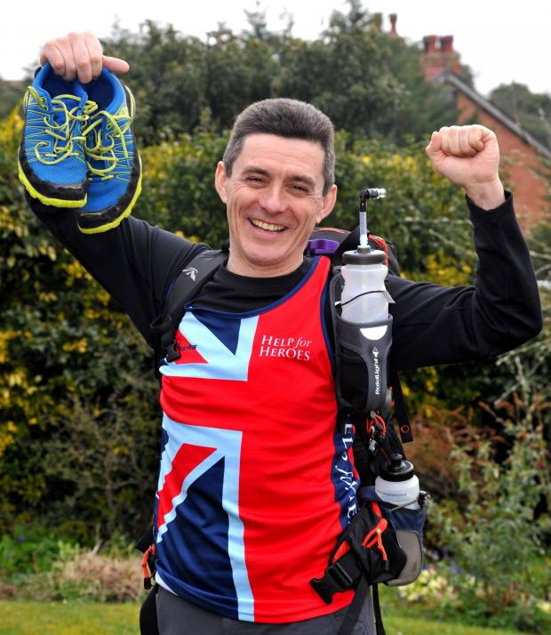 Worcester News: Bill Adsett from Malvern will be running 156 miles over the Sahara Desert for the forces charity, Help for Heroes.