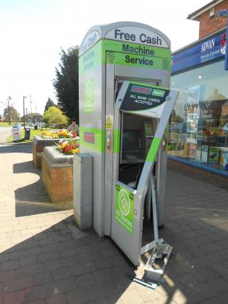 The cash machine on Barnard's Green Road