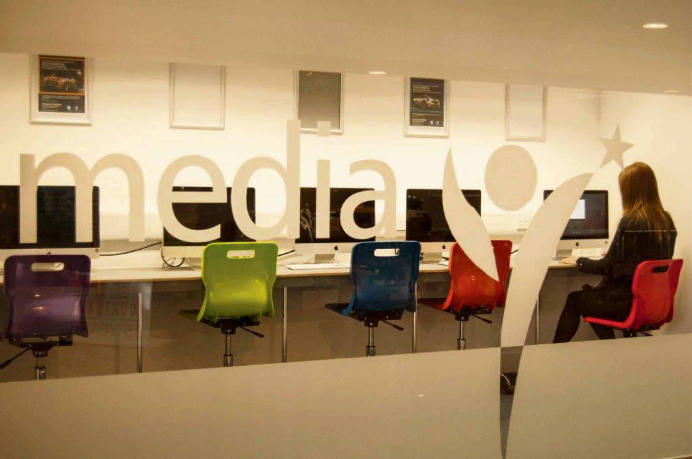 The new media area at the Courtyard in Hereford.