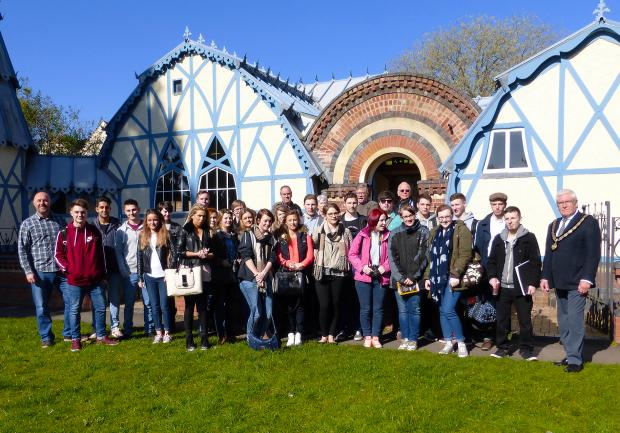 Graphic Design students visit Tenbury Wells to help design wayfinding signage