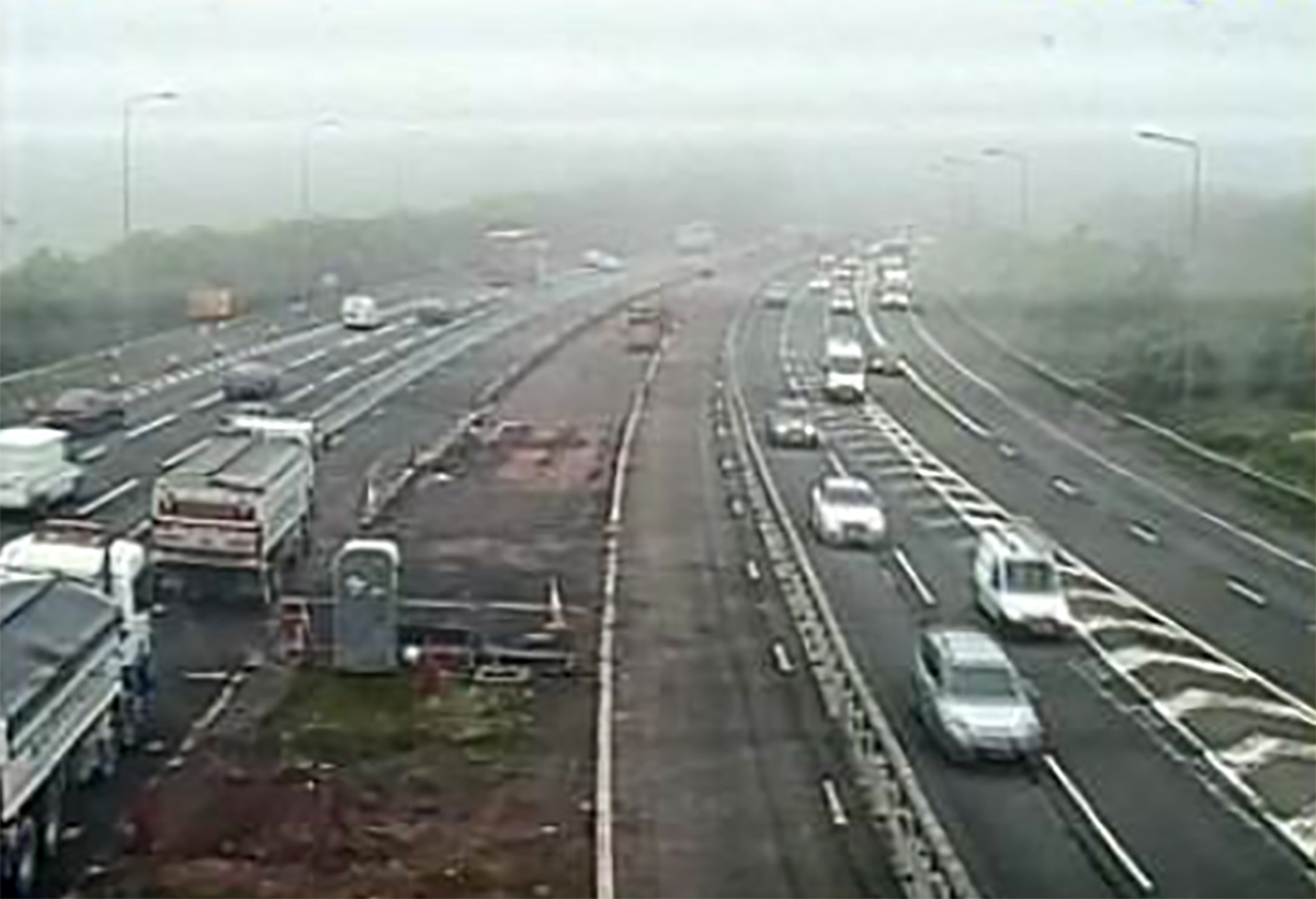 Commuters are facing long delays on the M5 northbound in Worcestershire this morning after a crash.