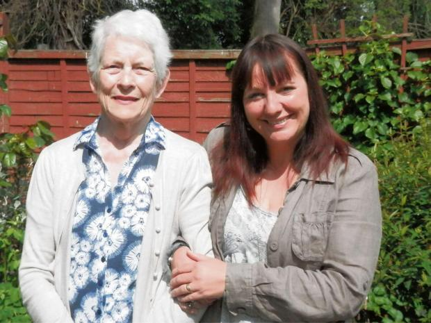Worcester News: June Watkins meets Estelle Field, who helped to save her life.