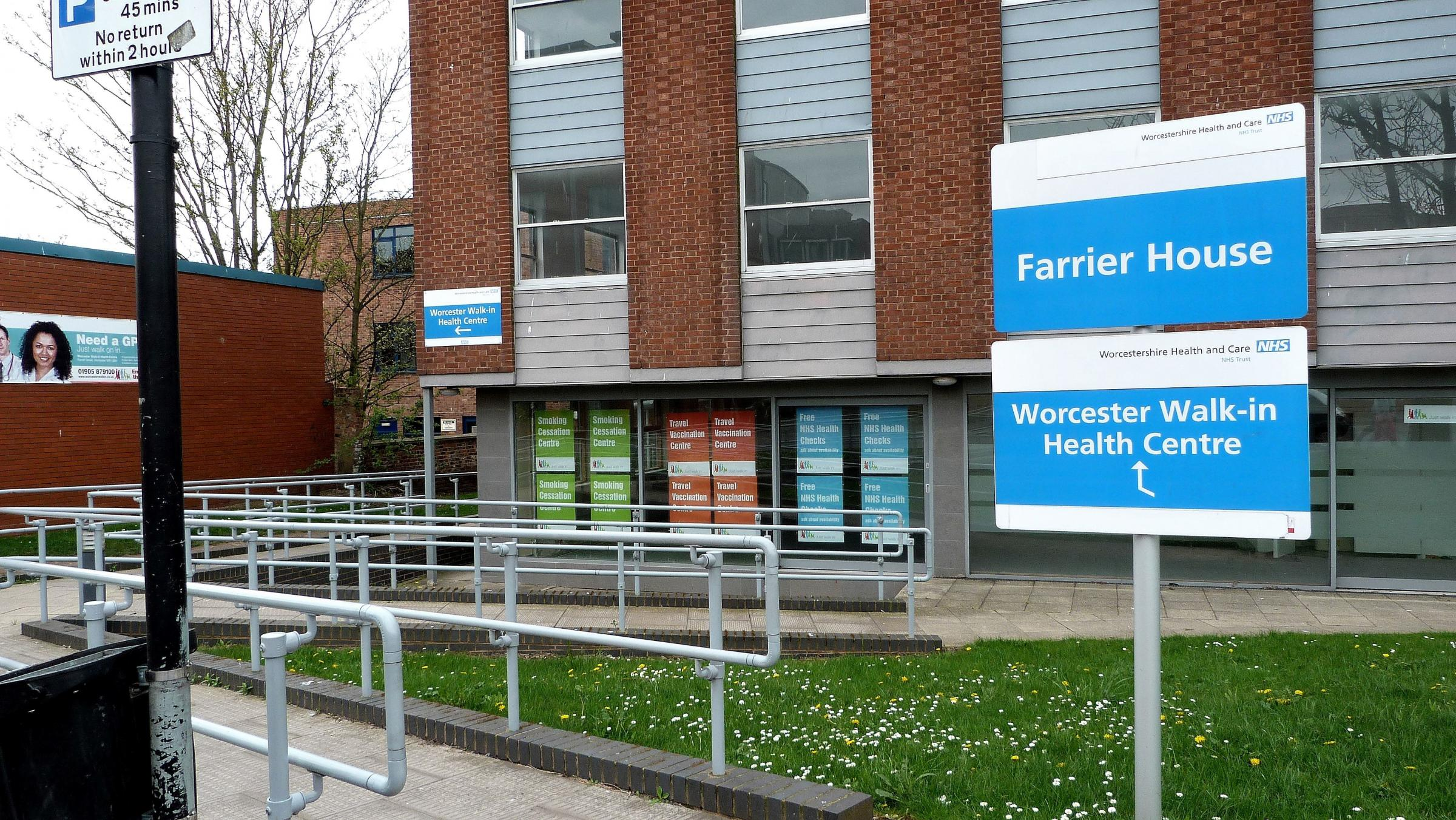 The Worcester Walk-In Health Centre in Farrier Street
