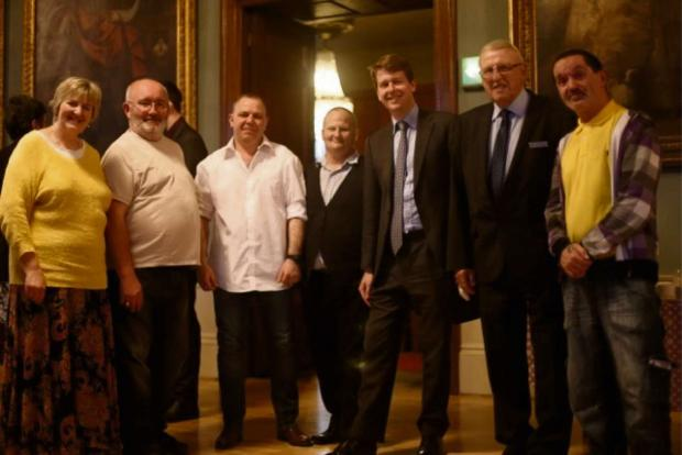 Left to right: Gerry Lowman, Gareth Jones, Ray Morgan, Worcester MP Robin Walker, West Mercia's Police and Crime Commissioner Bill Longmore and Paul Manley.