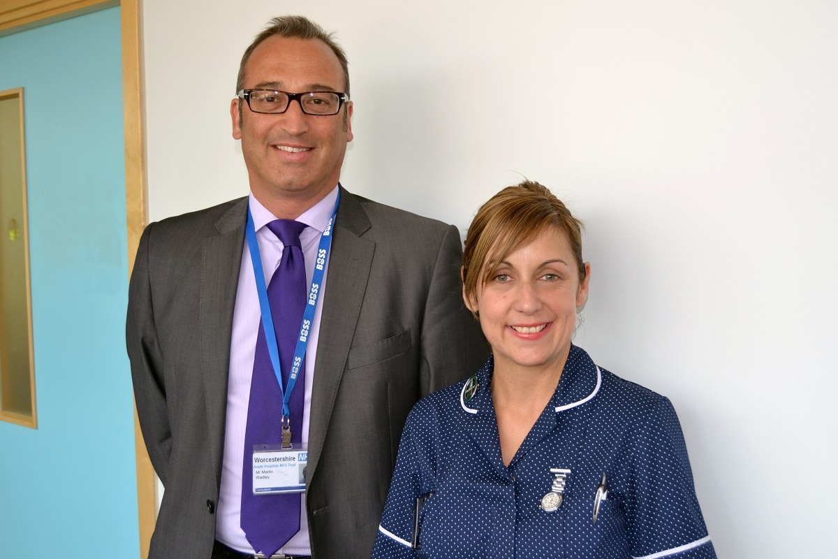 Consultant upper gastrointestinal surgeon with Worcestershire Acute Hospitals NHS Trust Martin Wadley with specialist nurse Donna Traynor