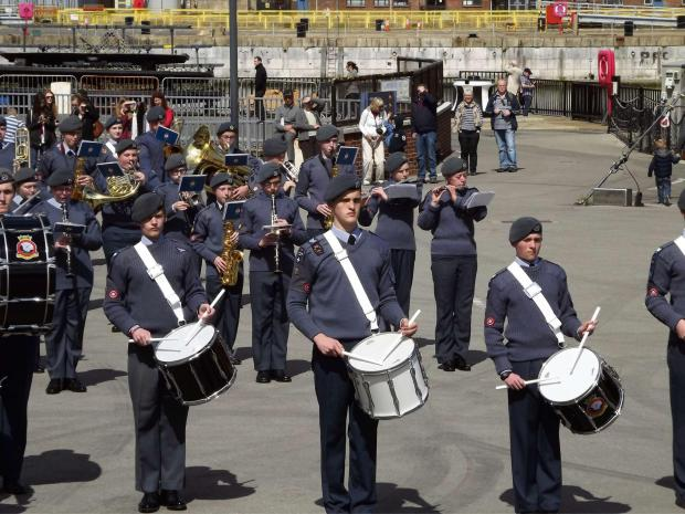 Worcester News: Nathan Branchett performed at Portsmouth Docks as part of the air cadet organisation national marching band.